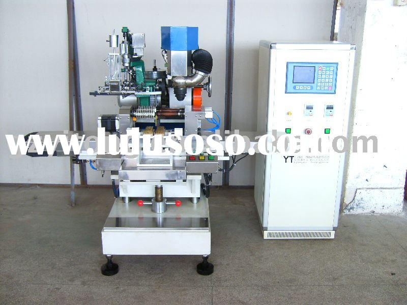 brush drilling machine---CNC 3-axis double head drilling machine