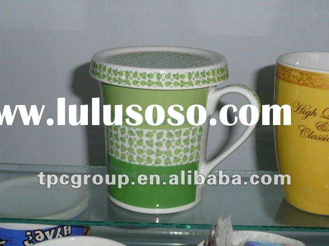 ceramic mug with lid, ceramic coffee cup with lid