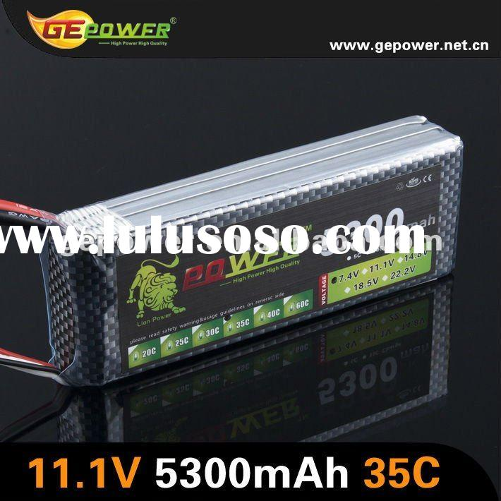 cheap price 11.1V 5300MAH 35C RC lipo battery rechargeable battery