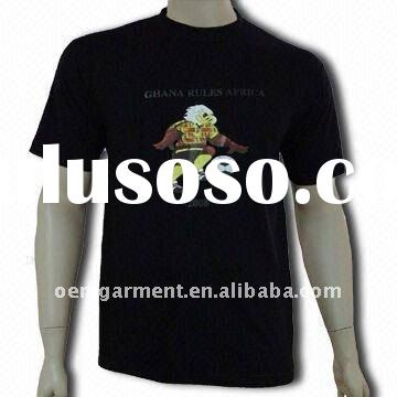 cheap wholesale OEM black t shirt for man and woman with your logo from factory directly