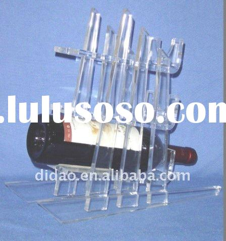 clear acrylic wine glass holder or acrylic wine bottle rack