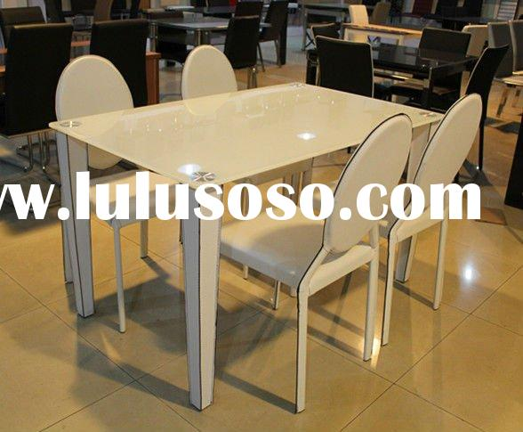 elegant contemporary white leather dining room set
