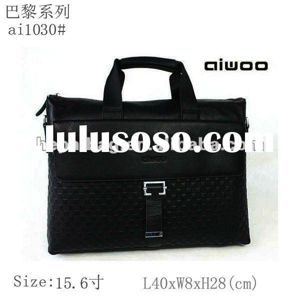 fashion genuine leather man's business bag