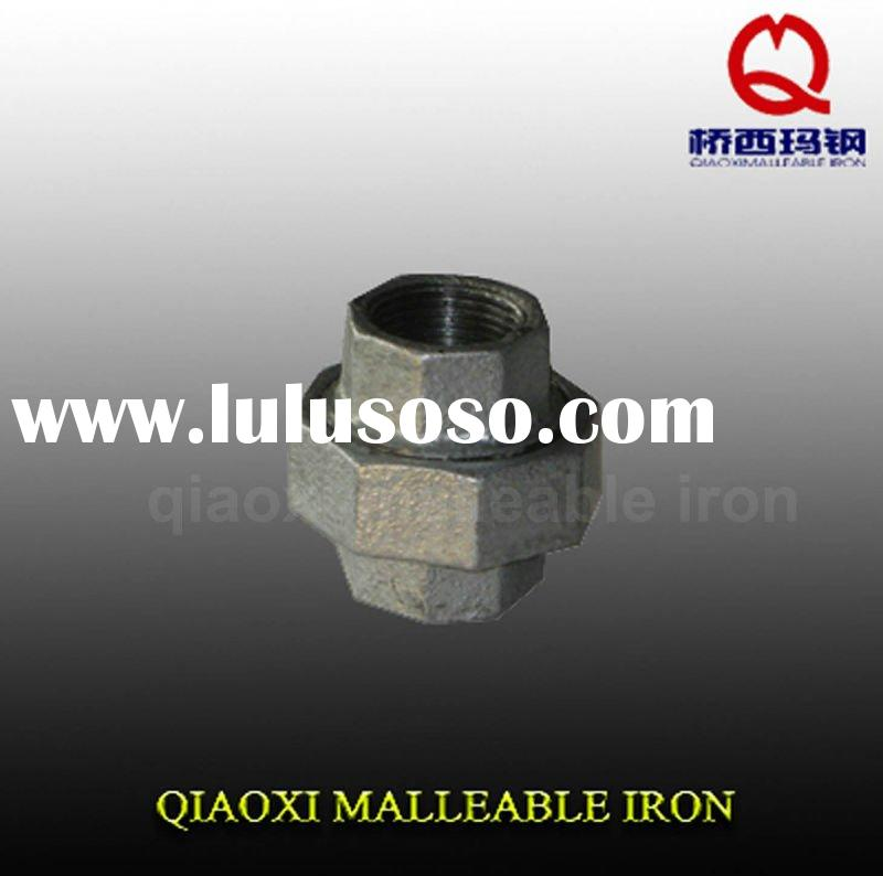 galvanized malleable iron gas pipe fitting union