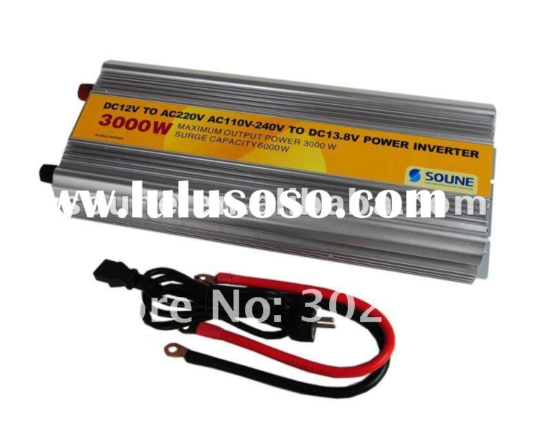high efficient converter 12v to 220v for 3000W 12v-48v DC to 110v-380v AC with battery charger