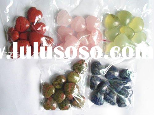 natural gemstone heart beads/loose beads