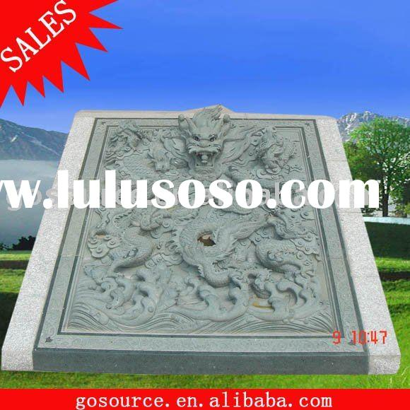 outdoor stone dragon relief carving sculpture