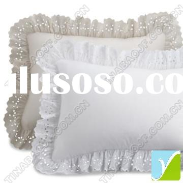 pillow case, pillow cover with lace, embroidered, printed, polyester/cotton/silk fabric