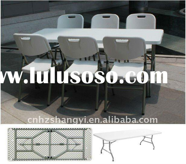 plastic folding banquet table and chairs