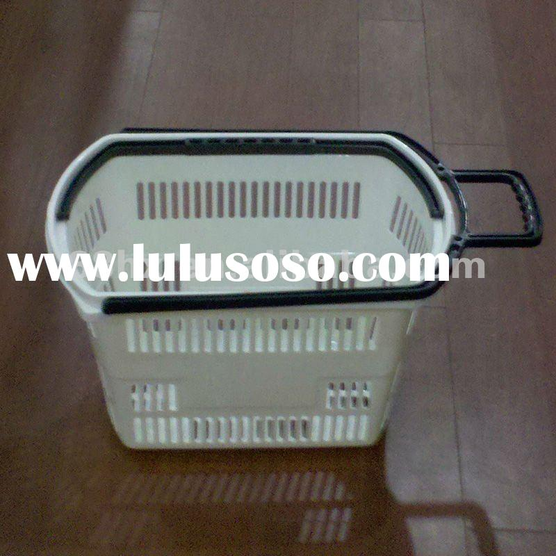 plastic laundry basket with wheels HX-017