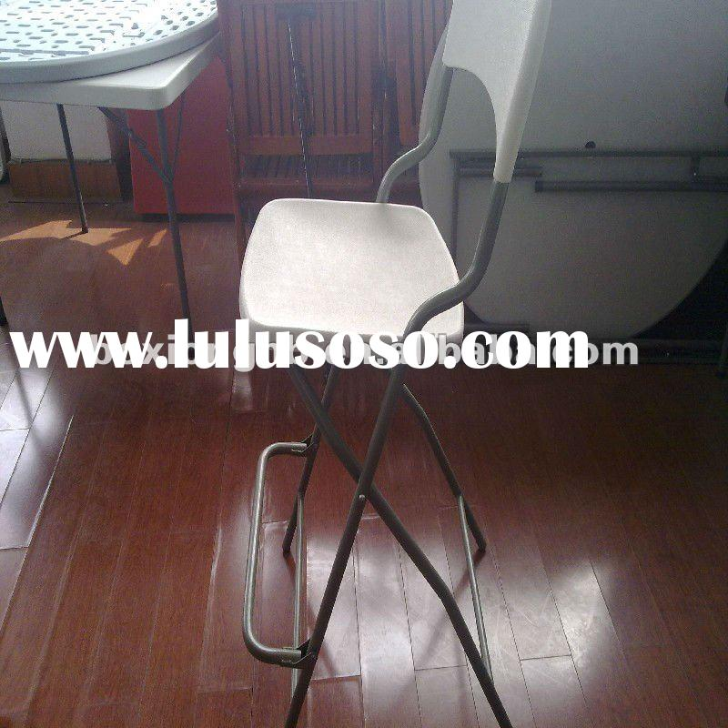 plastic tall outdoor chair , white plastic bar high chair (outdoor furniture)