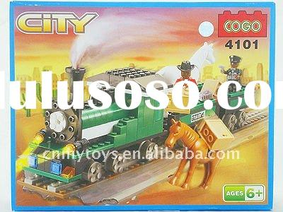 plastic train 222pcs cogo blocks toys for kids U3301581