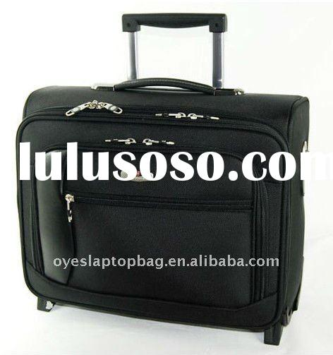 pu trolley bag laptop bag with wheels