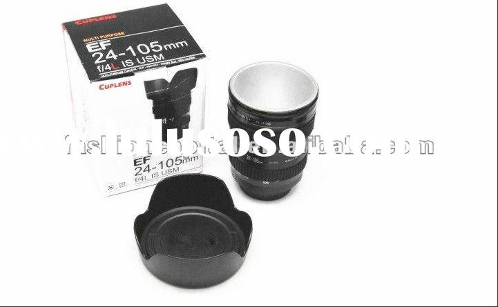 quality for coffee tea camera lens metal stainless Mugs wholesale