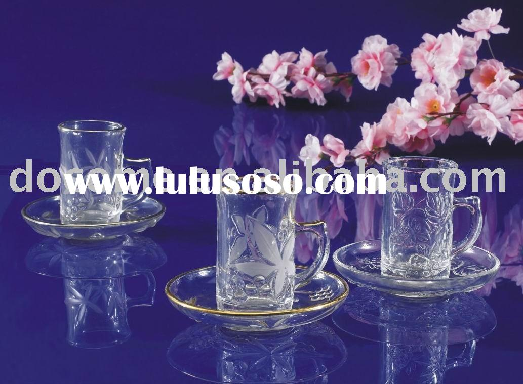 silver side with elephant clear glass Coffee & Tea Sets