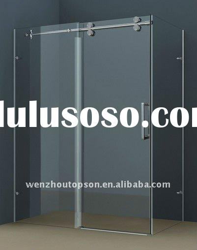 simple sliding glass shower door,sliding shower partition door