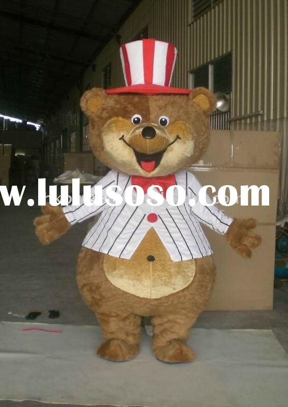 teddy bear adult character mascot costume