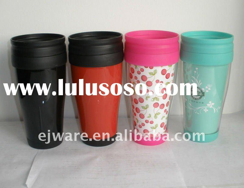 thermal mug with double wall printed paper insert