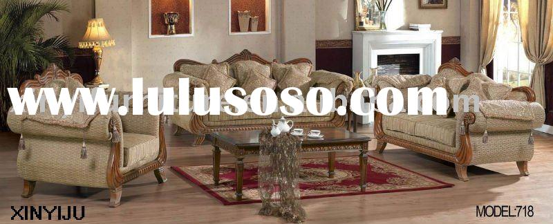 wooden sofa set designs and prices 718 (1+2+3)