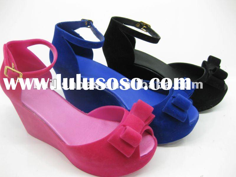 2012 new JELLY shoes melissa new arrival VELVET;2012 new JELLY wedge flatform women sandal