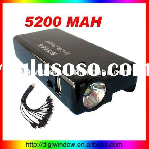 5200MAH Mobile Power Supply For iPhone etc Phone and USB Slot Power Bank (DW-D-393)