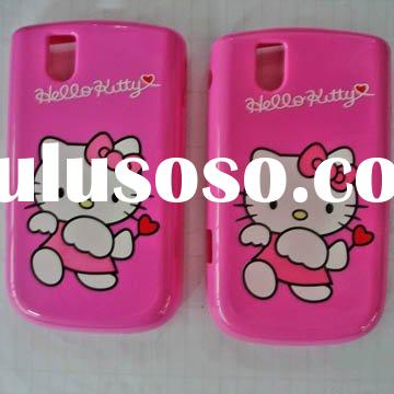 new hello kitty design Mobile phone case for blackberry9630 9700 9550 9100 TPU case