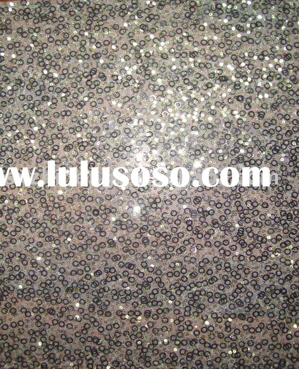 spangle embroidery/sequin embroidery fabric on mesh