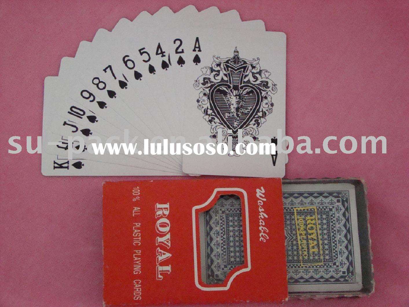 100% Plastic Playing Cards - Royal