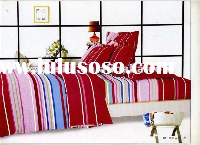 100% cotton printed wedding bedding set bed sheets designs