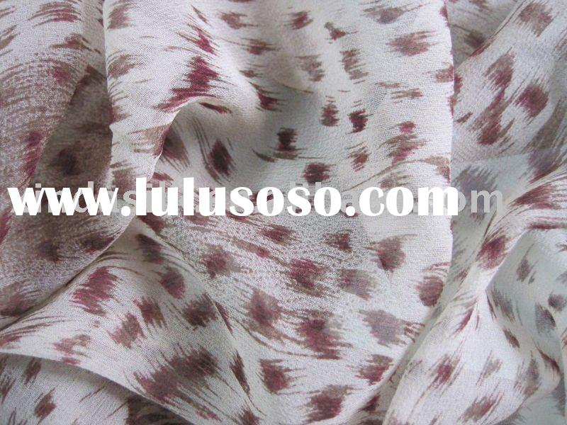 100% silk chiffon/chiffon/chiffon fabric dyed or printed for evening dress and wedding dress