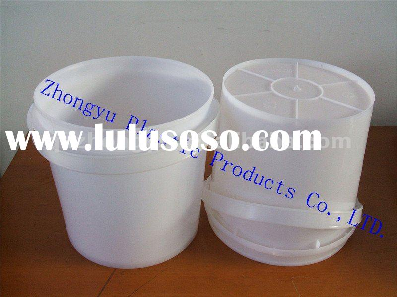 10 Liter food grade plastic bucket with lid and handle