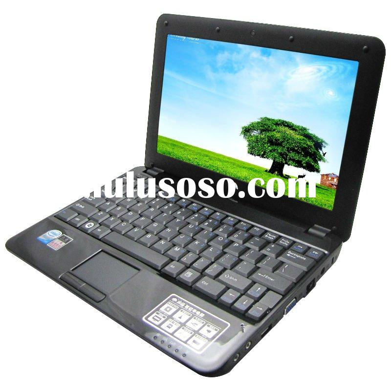 10inch LED laptop Intel Atom D425 1.8GHz 2G/320G core solo dual thread