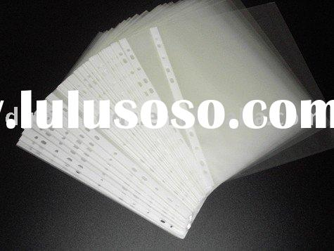 11 holes A4 sheet protector ,document bag,white strip pocket