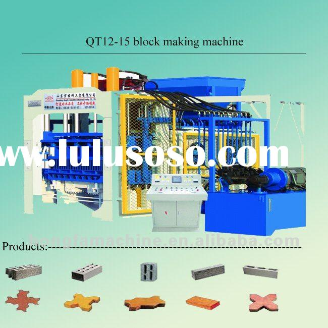 12-15 curb stone making machine interlocking making machine pavement block machine hollow block poro