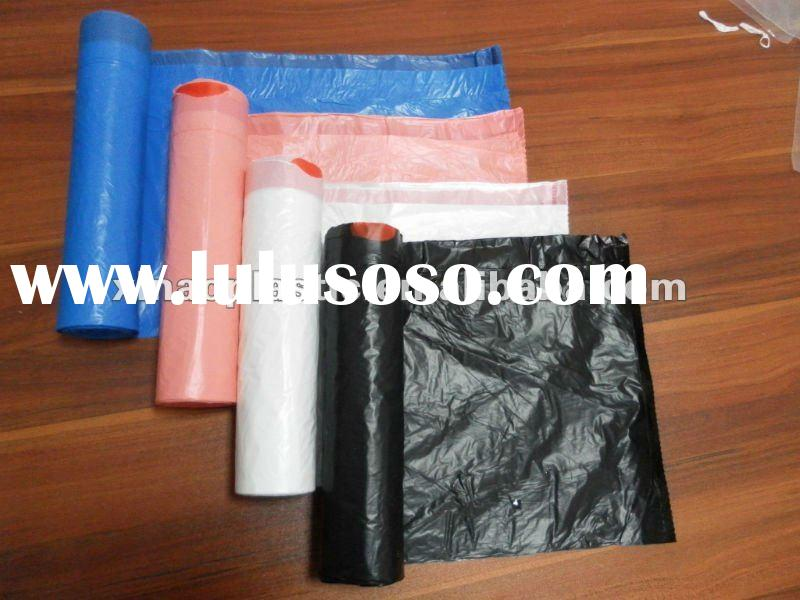 2011 HDPE and LDPE rubbish bags with drawstring and draw tape