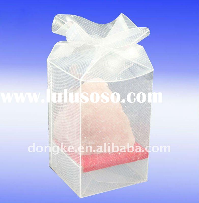 2011 good quality Transparent Plastic PP/PVC/PET cake box with handle
