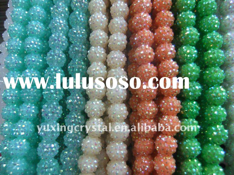 2011 new product , wholesale of resin ball , BBW earring