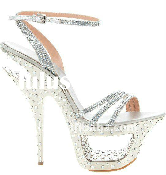 2011 the hottest and top design lady wedding shoe GSL004 with diamond free shipping