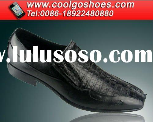 2012 Crocodile leather men dress shoes with factory price in GuangZhou China