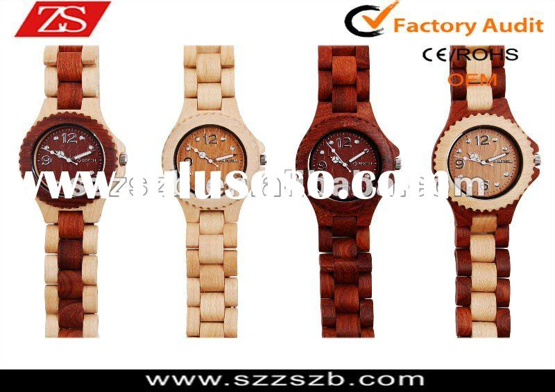2012 high-grade watch top brand quartz new Japan movt wooden watches