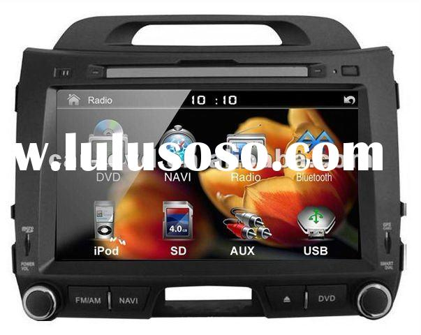 2012 latest Kia New Sportage car dvd gps tracker with Digital TV