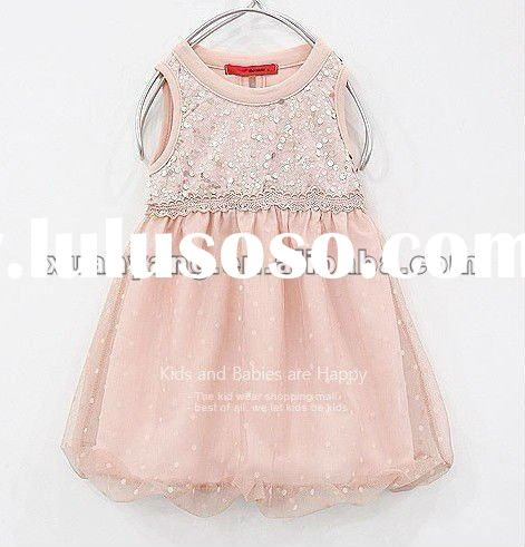 2012 latest lace dress patterns for kids