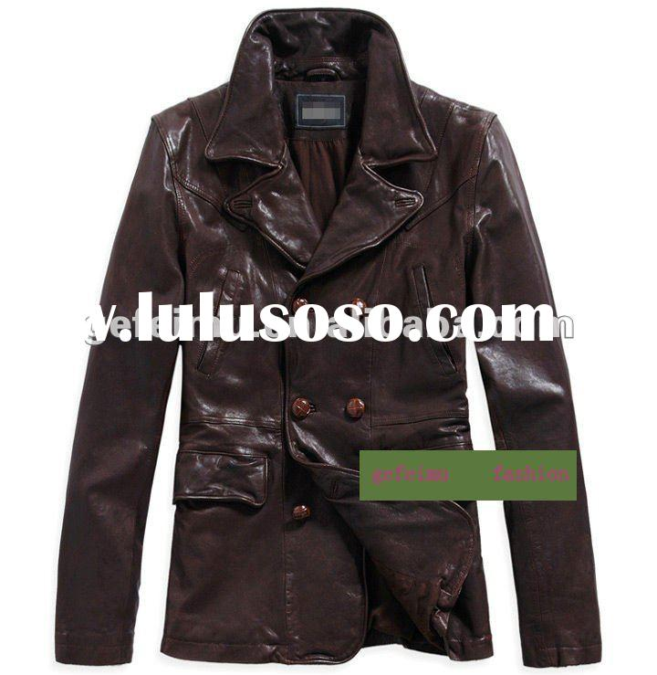 2012 men' s genuine leather coats and jacket