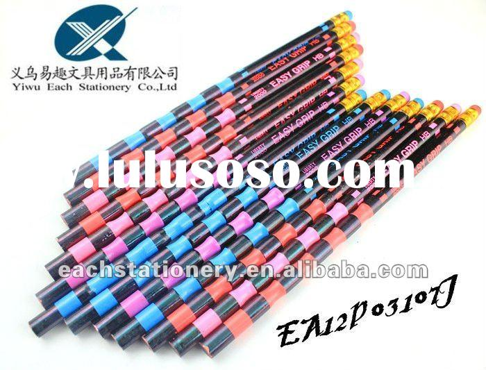2012 new arrival HB easy grip pencil in bulk with eraser