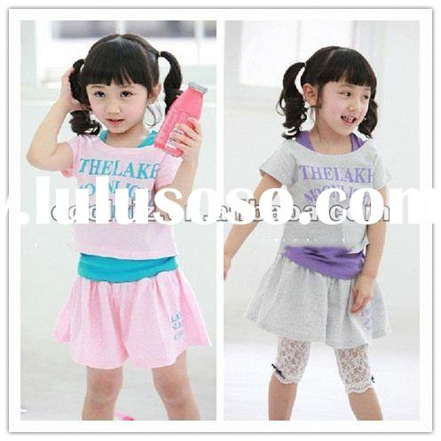 2012 new design children's clothing set child cloth girl's pakistan children clothin