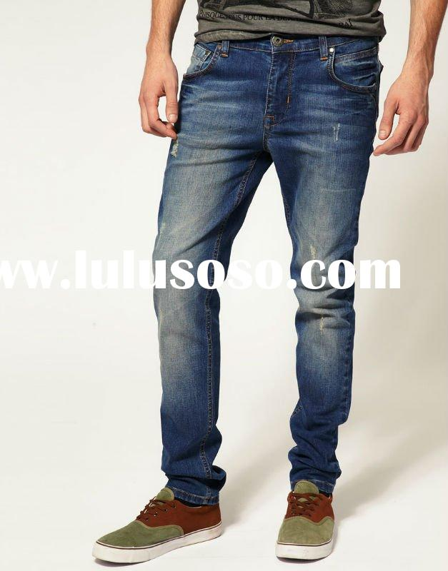 2012 new style Mens jeans denim pants high grade jeans Wholesale and Retail straight cut jeans, can