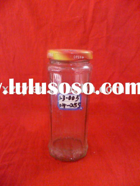 255ml clear fruit juice glass bottle with tinplate cap