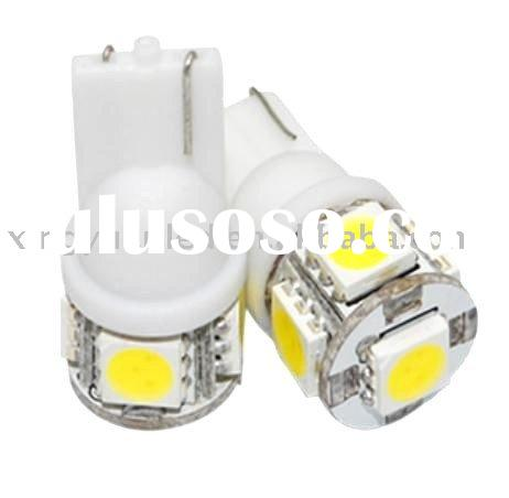 2X T10 194 168 W5W 5050 5 SMD LED Car Auto Side Wedge Light Bulb Lamp Green