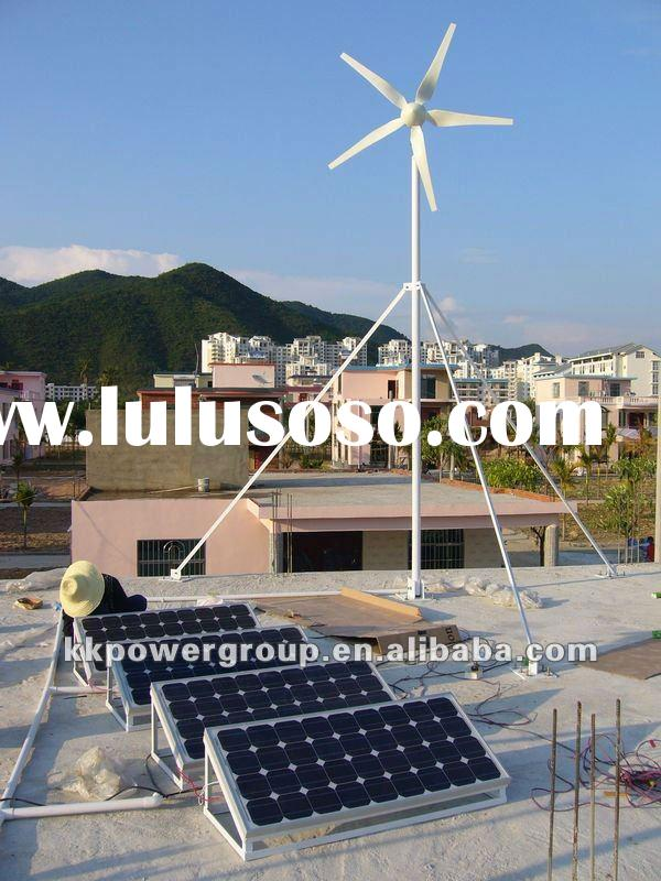 3KW wind solar hybrid power system for house