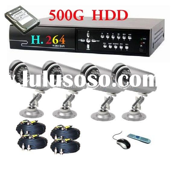 4CH H.264 Network Digital Video Recorder and 4 cctv cameras